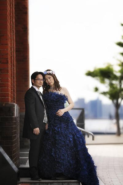 門司港レトロ結婚写真