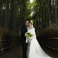 京都嵐山竹林結婚写真