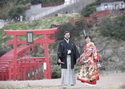 元の隅神社結婚写真