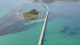 角島大橋鳥瞰写真