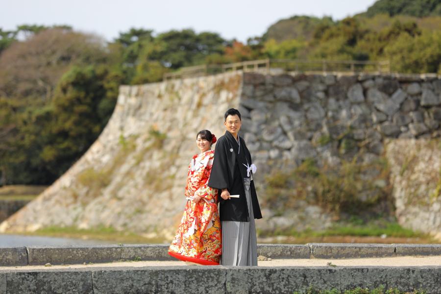 萩城跡結婚写真