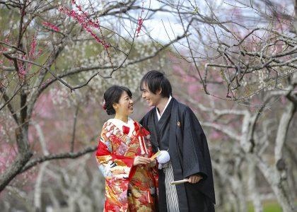 梅林で結婚写真